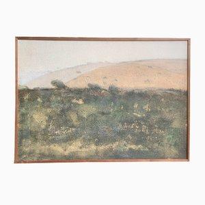 Dieter Stöver, Mozzolu Sardinia, Italy, 1980, Oil Painting
