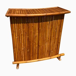Vintage Folding Bamboo and Rattan Bar Counter, 1960s or 1970s