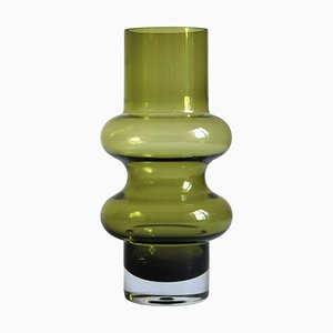 Green Hooped Solmuke Vase by Tamara Aladin for Riihimaën Lasi