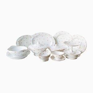 Vajilla de porcelana de Union Porcelanière Limoges. Juego de 86