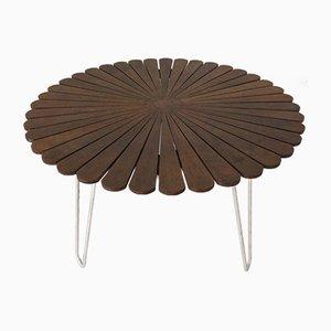 Tubular Steel Teak Garden Table from Daneline, Denmark, 1960s