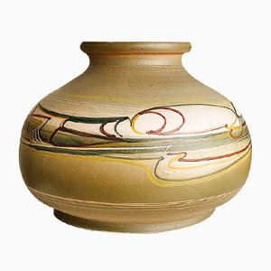 Vintage Hand-Painted Italian Vase by Cianciolo Noma for Messina, 1960s
