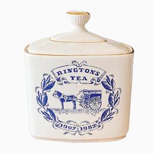 Recipiente para el té vintage de cerámica de Royal Victoria Pottery, años 80