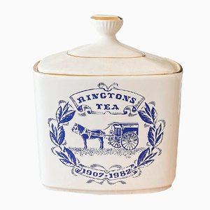 Vintage Tea Ceramic Storage Container from Royal Victoria Pottery, 1980s