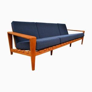 Vintage Swedish Oak 3.5 Seater Sofa by Svante Skogh for Seffle Möbelfabrik
