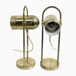 Table Lamps in Brass by Rolf Krüger for Heinz Neuhaus, 1960s or 1970s, Set of 2