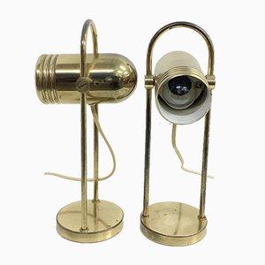 Tischlampen aus Messing von Rolf Krüger für Heinz Neuhaus, 1960er oder 1970er, 2er Set