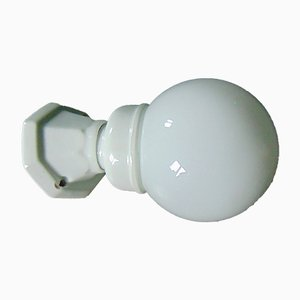 Art Deco, Porcelain Wall Lamp, Industrial