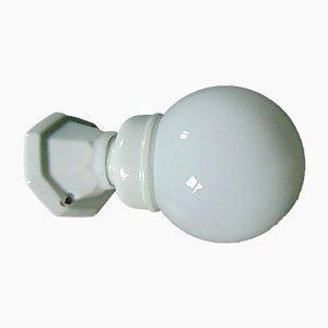 Lámpara de pared Art Déco de porcelana, industrial