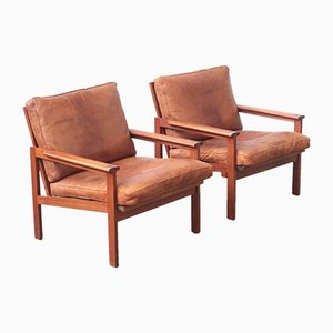 Lounge Chairs by Illum Wikkelsø for Niels Eilersen, 1960s, Set of 2