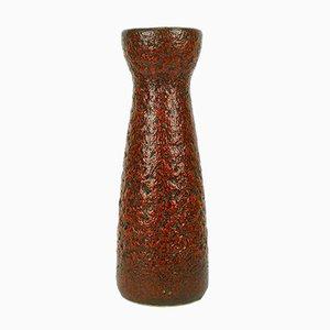Mid-Century Fat Lava 520-32 Vase in Red & Black from Scheurich, 1960s