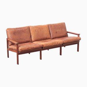 Leather Sofa by Illum Wikkelsø for Niels Eilersen, 1960s