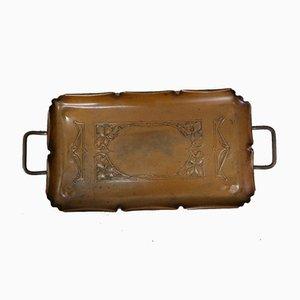 Jugendstil Kupfer Tablett von WMF, 1910er