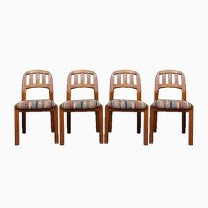 Dänische Mid-Century Esszimmerstühle aus Teak von Dyrlund, 1970er, 4er Set