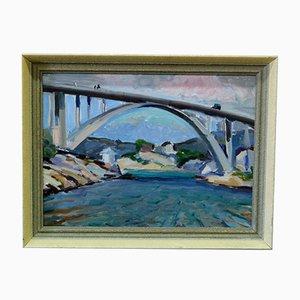 Pintura impresionista escandinava, años 30, óleo sobre lienzo