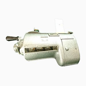 Vintage English TIM Train, Bus or Tram Conductor's Ticket Dispenser from Plessey, 1940s