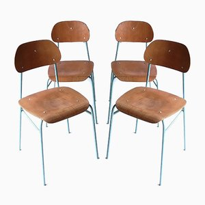 Vintage Schulstühle, 1960er, 4er Set