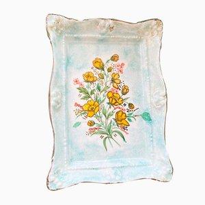 Vintage Handpainted Porcelain Soap Dish by Joseph Szeiler for Szeiler Studio, 1950s