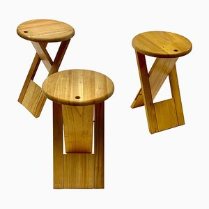 Foldable Wooden Stool by Adrian Reed, United Kingdom, 1984