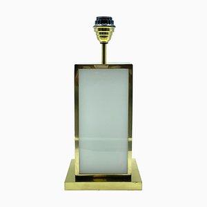 Messing und Elfenbein Acryl Tischlampe im Stil von Romeo Rega, Italien, 1970er