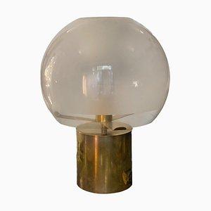 Porcino Messing Tischlampe von Luigi Caccia Dominioni für Azucena