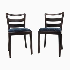 Art Deco Dining Chairs, 1930s, Set of 2
