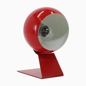 Rote verstellbare Tischlampe, Deutschland, 1960er