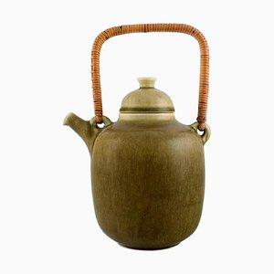 Teapot in Glazed Stoneware by Frode Blichfeldt Bahnsen for Palshus, 1960s
