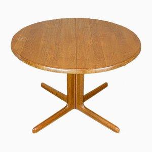 Mesa de comedor danesa moderna de teca, años 60