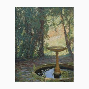 Fountain in a Park by Octave-Denis-Victor Guillonnet, 1930s