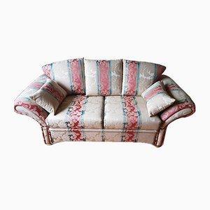 Juego de sofá Mid-Century con estampado de rayas