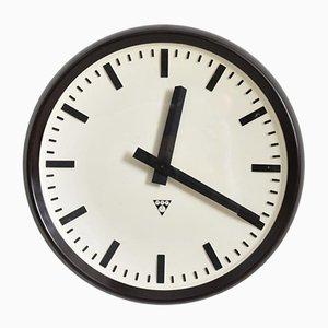 Large Round Bakelite Vintage Pragotron Clock