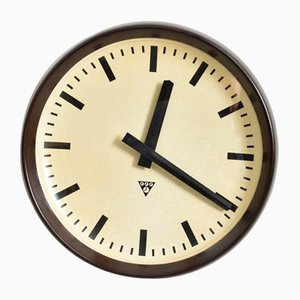 Reloj Pragotron vintage grande de baquelita