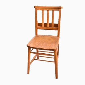 Antique Elm Chapel Chair