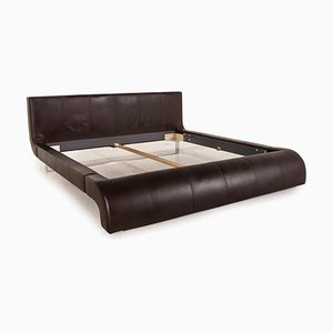 Swing Black Leather Double Bed from Joop!