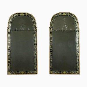 Espejos estilo Queen Anne. Juego de 2