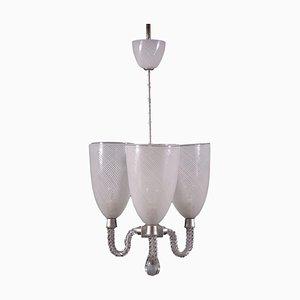 Venini Style Ceiling Lamps, 1940s