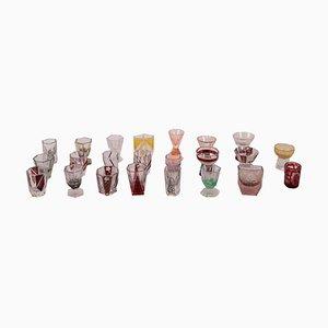 Vasos de vidrio Moulate. Juego de 23