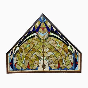 Mid-Century Stained Glass Church Window