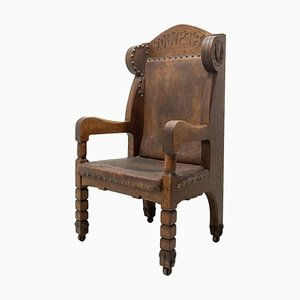 Late 19th Century Massive Throne Chair in Historicist Style