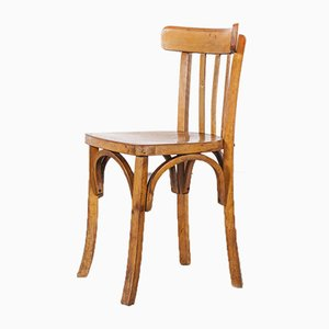 Model 1 French Baumann Bentwood Bistro Dining Chairs by Joamin Baumann, 1950s, Set of 8