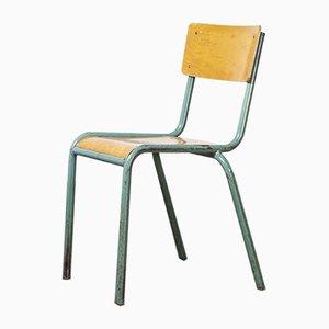 Modell 510/1 Mintgrüne Französische Stapelbare Esszimmerstühle, 1950er, 8er Set