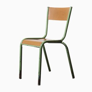 French Mullca Overpainted Stacking Dining Chairs, 1950s, Set of 4
