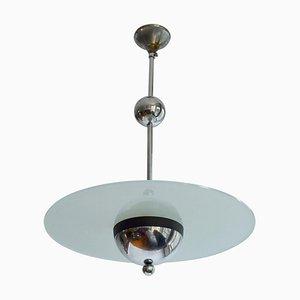 Chrome and Glass Pendant Lamp by Willem Hendrik Gispen, 1930s