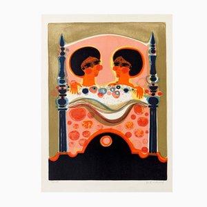 Litografía Two Ladies Color de Frederic Menguy