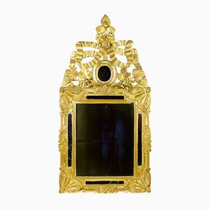 Provencal Transitional Louis XVI Wall Mirror with Elaborate Crowning, France, 1770s