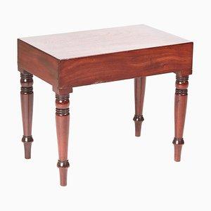 Lámpara de mesa victoriana antigua de caoba