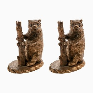 Antique Victorian Brass Bears, Set of 2