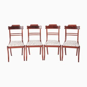 Antike Regency Esszimmerstühle aus Mahagoni, 4er Set