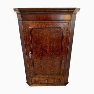 Antique 18th Century Oak Hanging Corner Cabinet
